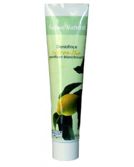 DENTIFRICE BIO CITRON, Blanchissant, Purifiant