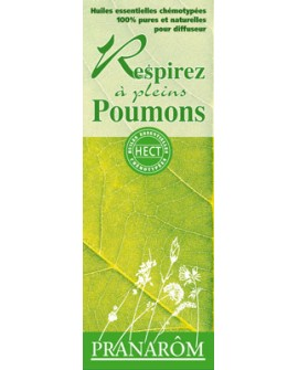 Respirez à plein poumons, mélange d'huiles essentielles pour diffuseur de pranarom