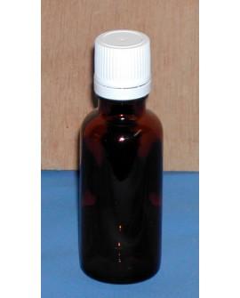 Flacon vide pour préparation verre brun  hv, 30 ml (huiles végétales+huiles essentielles)