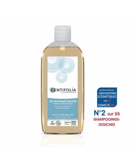 Gel Douche, Bain et Cheveux (Base neutre Bio Hypoallergénique) 250 ml