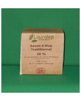 Savon d'alep traditionnel BIO, 20 % de laurier  200 gr