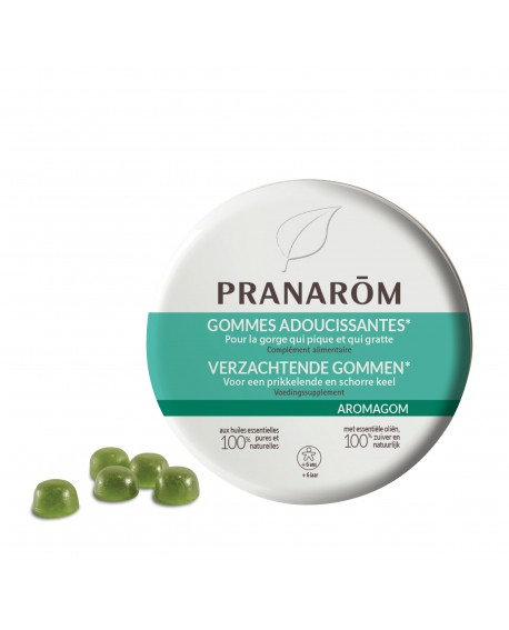 Aromagom aux huiles essentielles de Pranarom (adoucit la gorge)