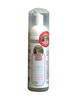 Shampooing mousse délicat BIO pour bébé, sans savon