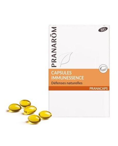 Immunessence BIO capsules aromatiques (Défense de l'organisme) de Pranarom