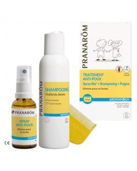 DUO - Spray anti-poux + Shampooing + peigne AROMAPOUX de Pranarom