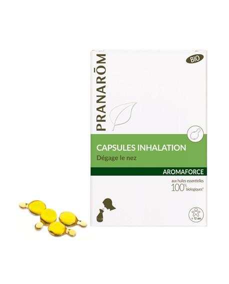 Capsules inhalation Bio Aromaforce de Pranarom