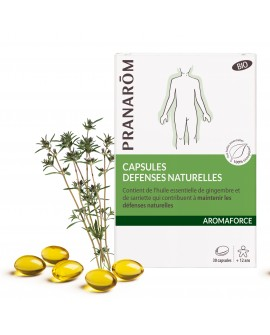 Capsules défenses naturelles Bio Aromaforce de Pranarom