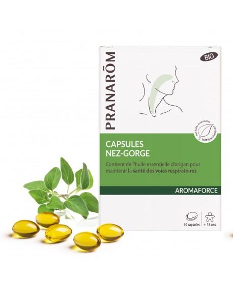 Capsules nez gorge Bio Aromaforce de Pranarom