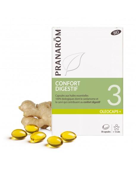 Confort digestif Oléocaps+ 3 Bio de Pranarom