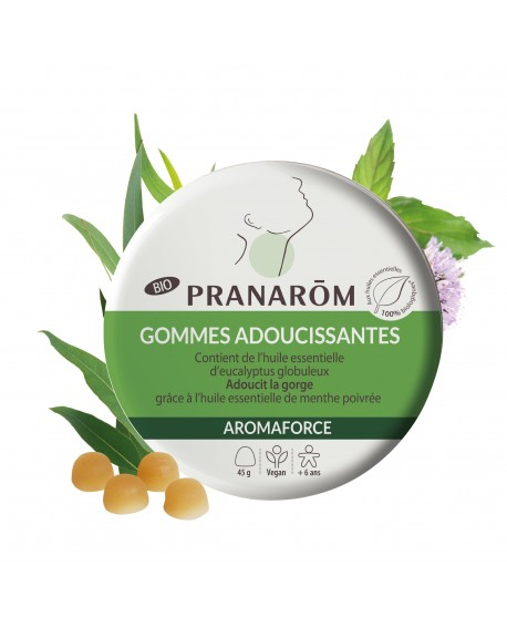 Gommes adoucissantes - Menthe/Eucalyptus Bio Aromaforce de Pranarom