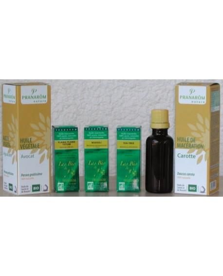Pack Préparation Solaire Bio aux huiles essentielles et végétales