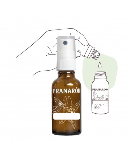 Flacon verre 30ml avec pompe spray (Vide) de Pranarom