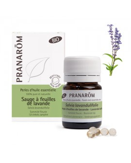Sauge à feuilles de Lavande Bio, Perles d' huile essentielle de Pranarom