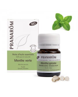 Menthe verte Bio (Menthe Nana), Perles d' huile essentielle de Pranarom