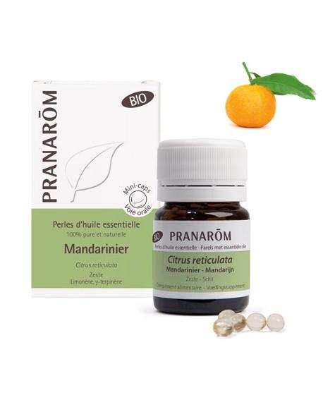 Mandarine zeste BIO,  Perles d'huile essentielle de Pranarom