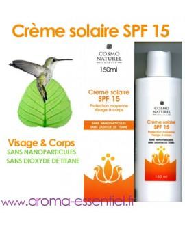 Crème solaire BIO SPF15 de Cosmo Naturel 150 ml