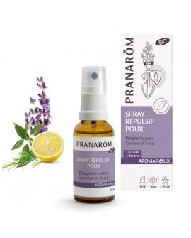 Spray Répulsif Poux Bio de Pranarom (AROMAPOUX)