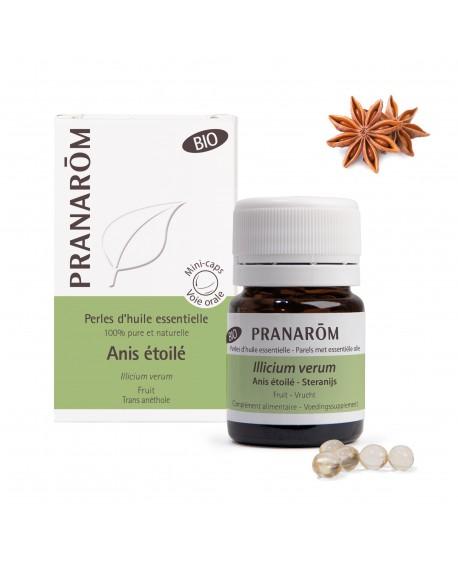 Anis étoilé ou badiane BIO, Perles d'huile essentielle de Pranarom