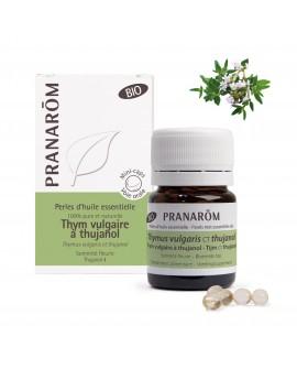 Thym vulgaire CT thujanol Bio, Perles d'huile essentielle de Pranarom