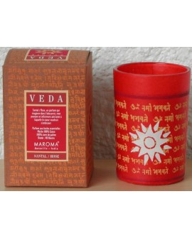 Bougie Santal Rose (Agni) Veda Naturel