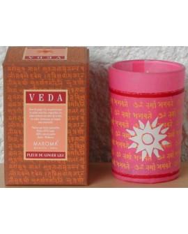 Bougie Fleur de Ginger Lily (Usha) Veda, Naturel