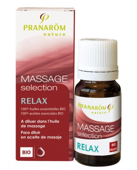 Relax Bio (relaxation, détente), Synergie pour massage de Pranarom