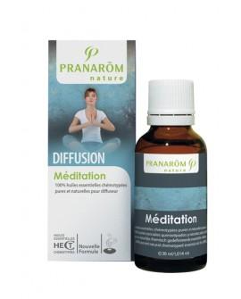 Méditation, Synergie d'huiles essentielles pour diffuseur de pranarom
