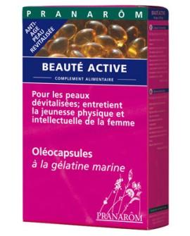 Beauté Active oléocapsules aromatiques (anti-âge+soin de la peau) de pranarom