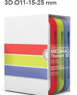 PACK  MEDIMAG TITANIUM 3D (3 coffrets de 24 aimants Ø11-15-25)