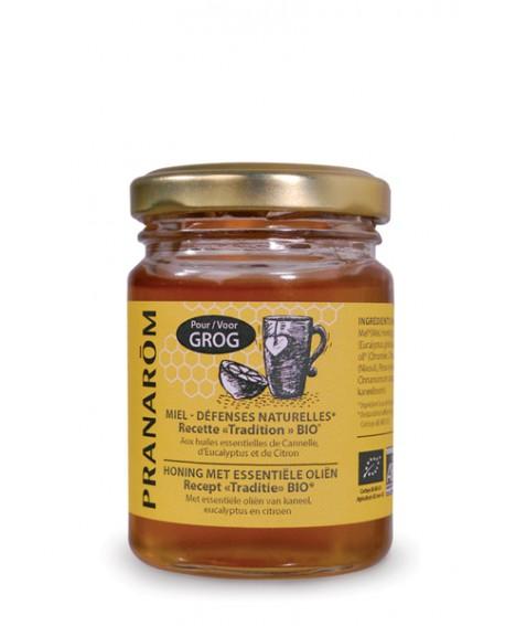 Miel bio pour grog, refroidissement, gorge irritée, défense naturelle