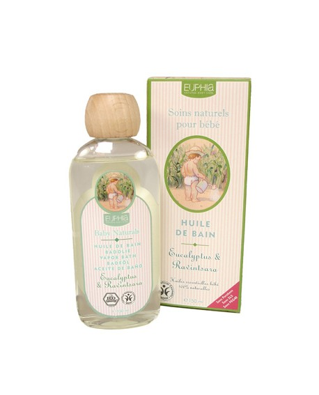 Huile de bain BIO eucalyptus & ravintsara pour bébé