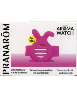 AROMA WATCH KID'S, Bracelet diffuseur d'huile essentielles (lapin rose) de Pranarom
