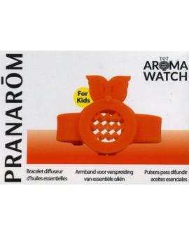 AROMA WATCH KID'S, Bracelet diffuseur d'huile essentielles (hibou orange) de Pranarom