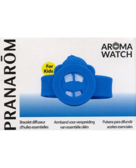 AROMA WATCH KID'S, Bracelet diffuseur d'huile essentielles (singe bleu) de Pranarom