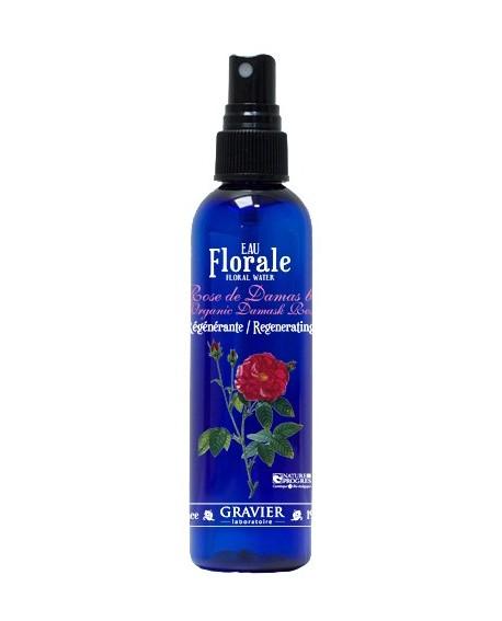 Eau florale de rose de Damas BIO ou hydrolat (Raffermissante, Anti-rides) de GRAVIER