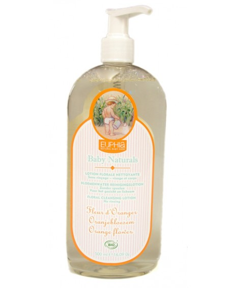 Lotion florale BIO, nettoyante sans rinçage pour bébé