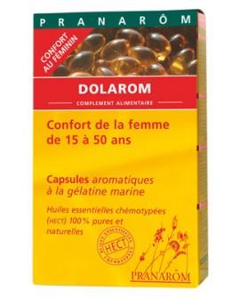 Dolarom capsules aromatiques (Douleurs des Règles et  Pré ménopause) de Pranarom