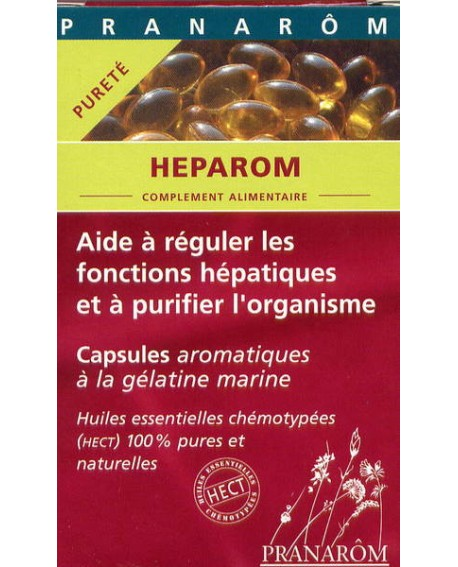 Heparom capsules aromatiques (santé  du foie) de Pranarom