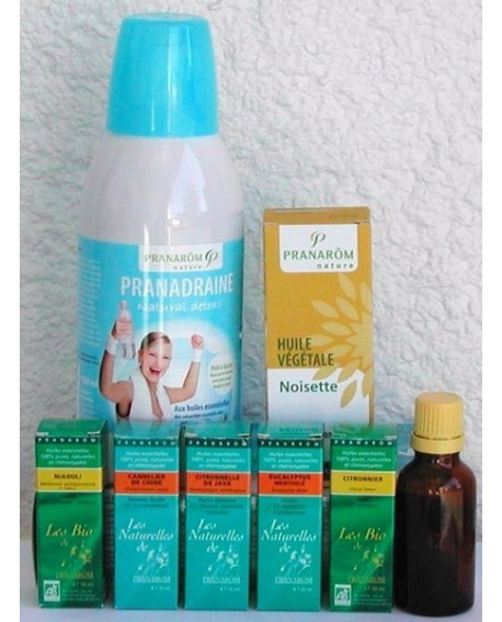 Pack minceur aux huiles essentielles, 1 draineur + 1 mélange pour massage