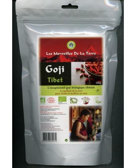 Goji Biologique et Sauvage du Tibet, 500 gr