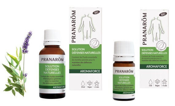Solution AROMAFORCE 30 ml ou 5 ml Défenses Naturelles Bio de Pranarom
