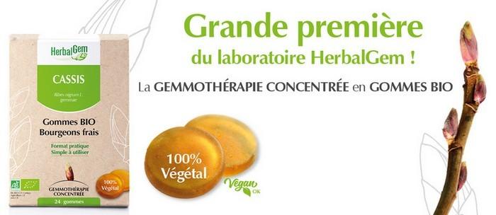 Cassis Gommes Bio Bourgeons frais de Herbalgem